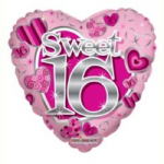 "SWEET 16 BIRTHDAY BALLOON  18""  19185-18"